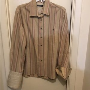 Kenneth Cole Mens French Cuff Button Down